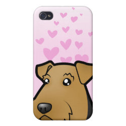 Case Savvy iPhone 4 Matte Finish Case with Airedale Terrier Phone Cases design