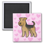 Airedale Terrier / Welsh Terrier Love Magnets