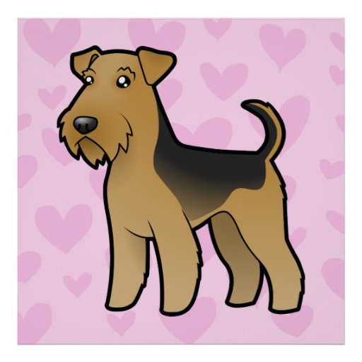 Airedale Terrier / Welsh Terrier Love Poster