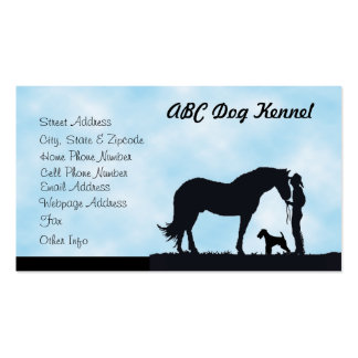 Airedale Terrier Western Silhouette Business Cards