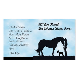 Airedale Terrier Western Silhouette Custom Profile Business Card