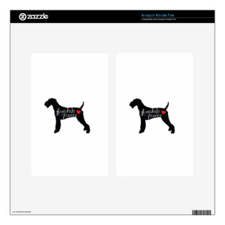 Airedale Terrier with Heart Dog Breed Love Decals For Kindle Fire