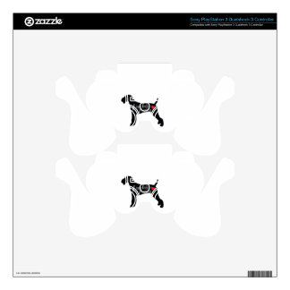 Airedale Terrier with Heart Dog Breed Love PS3 Controller Decal