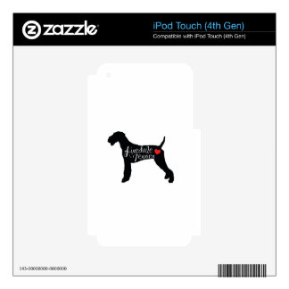 Airedale Terrier with Heart Dog Breed Love Skin For iPod Touch 4G