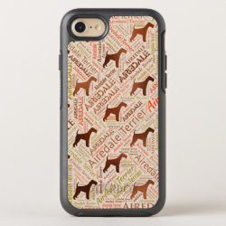 Airedale Terrier Word Art OtterBox Symmetry iPhone 8/7 Case