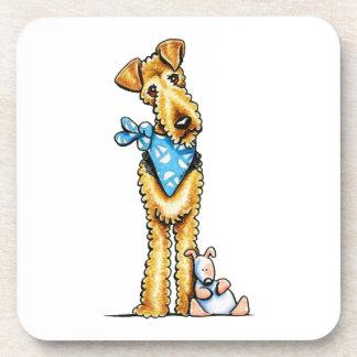 Airedale Terrier y perrito Posavasos De Bebidas