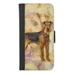 Airedale Terriers Mixed Media Digital art iPhone 8/7 Wallet Case