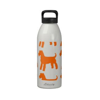 AIREDALE TERRIERS DRINKING BOTTLES