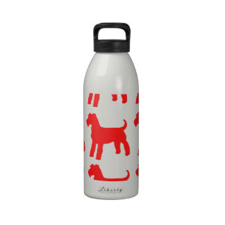 AIREDALE TERRIERS DRINKING BOTTLE