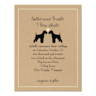 Airedale Terriers Wedding Invitation