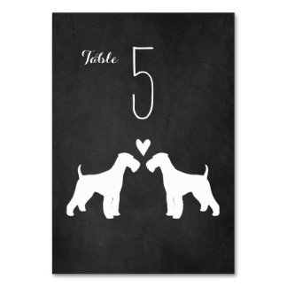 Airedale Terriers Wedding Table Card