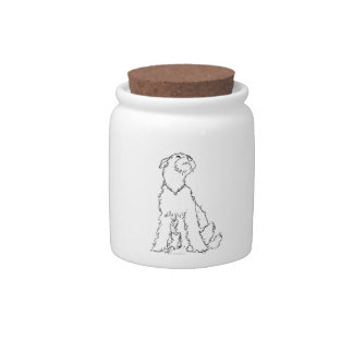 Airedale Welsh or Lakeland Terrier Happiness Candy Jar