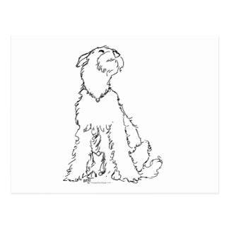 Airedale, Welsh or Lakeland Terrier Happiness Postcard