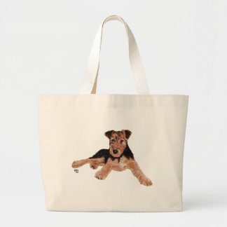 Airedale / Welsh Terrier Puppy Canvas Bag