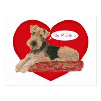 Airedale / Welsh Terrier Valentine Post Cards