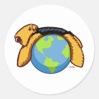 Airedale World Classic Round Sticker