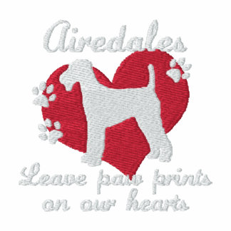 Airedales Leave Paw Prints
