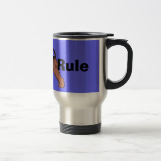Airedales Rule 15 Oz Stainless Steel Travel Mug