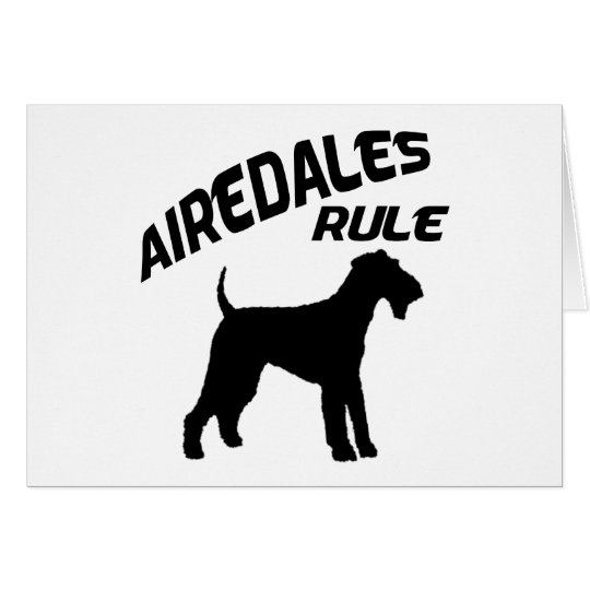 Airedales Rule Card