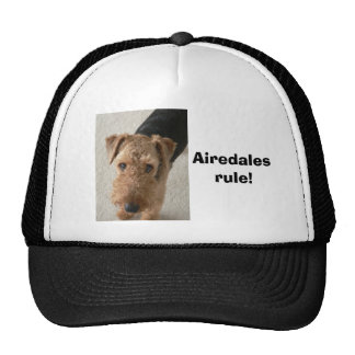 Airedales rule! trucker hat
