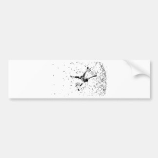 airflare bboy illustration bumper sticker