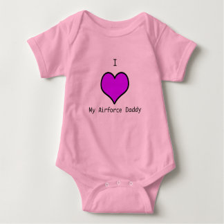 airforce daddy baby bodysuit