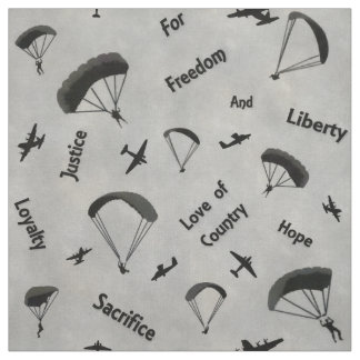 Airforce Paratroopers Fabric