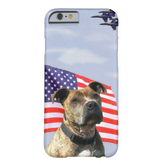 Airforce Pitbull dog Barely There iPhone 6 Case