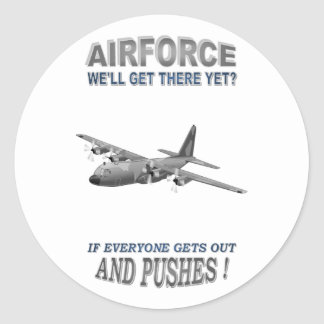 AIRFORCE TRANSPORT SQUADRONS CLASSIC ROUND STICKER