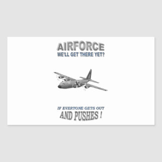 AIRFORCE TRANSPORT SQUADRONS RECTANGLE STICKERS