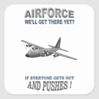 AIRFORCE TRANSPORT SQUADRONS SQUARE STICKERS