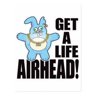 Airhead Bad Bun Life Postcard