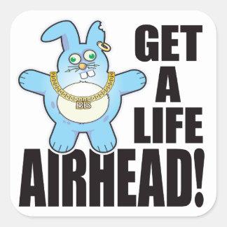 Airhead Bad Bun Life Square Sticker