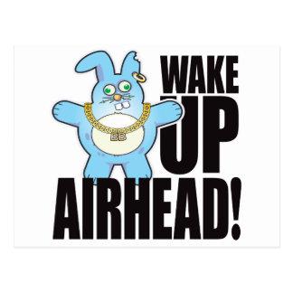Airhead Bad Bun Wake Postcard