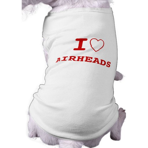 AIRHEADS I heart (love) Pet Clothing