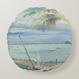 Airlie Beach Australia. 1998 Round Pillow