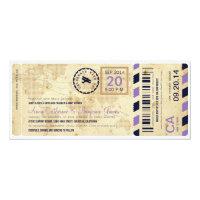 Airline Boarding Pass Ticket Wedding Invitation (<em>$2.57</em>)