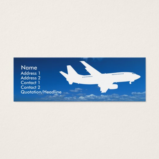 Airline Industry business card template