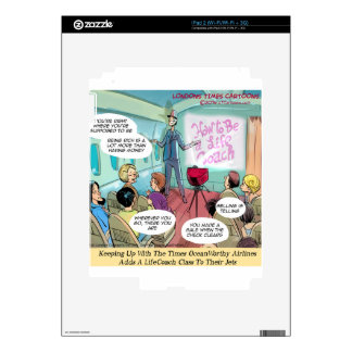 Airline LifeCoach Class Funny Decal For iPad 2