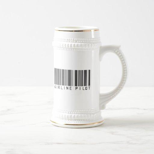Airline Pilot Bar Code Coffee Mugs
