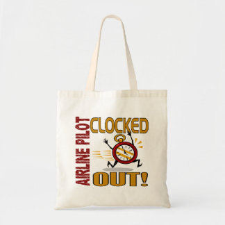 Airline Pilot Clocked Out Canvas Bag