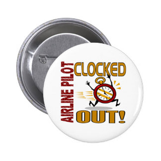 Airline Pilot Clocked Out Pins