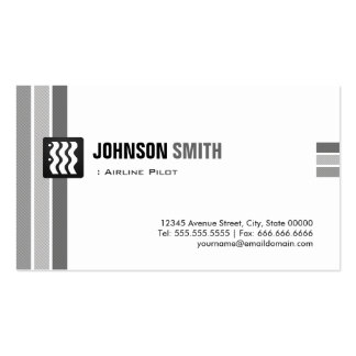 Airline Pilot - Creative Black White Double-Sided Standard Business Cards (Pack Of 100)
