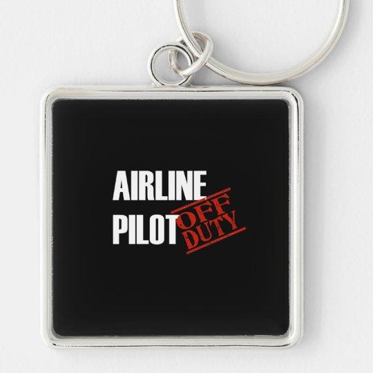 Airline Pilot Dark Keychain