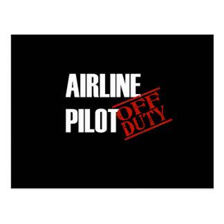 Airline Pilot Dark Postcard