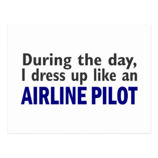 AIRLINE PILOT During The Day Postcards