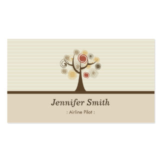 Airline Pilot Elegant Natural Theme Double-Sided Standard Business Cards (Pack Of 100)