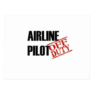 Airline Pilot Light Postcards