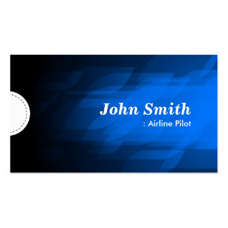 Airline Pilot - Modern Dark Blue Double-Sided Standard Business Cards (Pack Of 100)