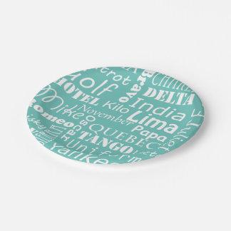 Airline Pilot Phonetic Alphabet Flying School Paper Plate